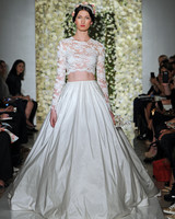 10 Crop-Top Looks From the Bridal Runways That Bare It Beautifully