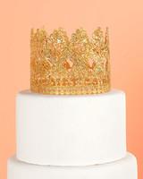 gold windsor crown cake topper