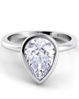 Danhov Pear-Cut Engagement Rings