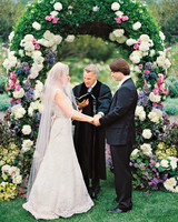 Pink, Periwinkle, and White Wedding Arch