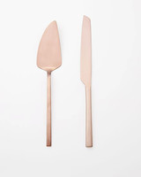 west elm copper cake server set