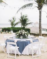 wedding reception on beach