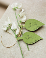 Paper Leaf Escort Cards