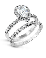 Simon G. Pear-Cut Engagement Ring