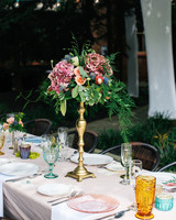 wedding plates tall floral centerpieces