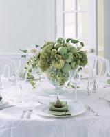 Green Fruit Wedding Centerpiece