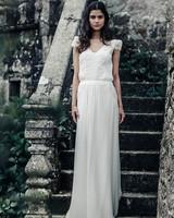 laure de sagazan cap sleeve spring 2018 wedding dress