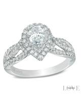 Vera Wang Pear-Cut Engagement Ring