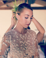 Whitney Port wedding hair