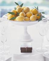 Sugared Lemon Wedding Centerpiece