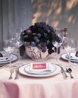 Purple Fruit Wedding Centerpiece