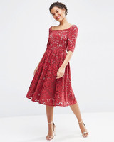 red bridesmaid dress asos lace prom