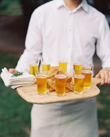 beer on tray