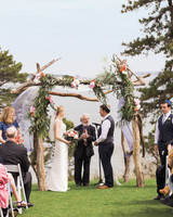 A Blue-and-White Nautical Wedding on The Cape