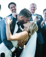 katie simon wedding kiss