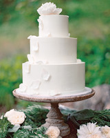 Wedding Cake with White Petals