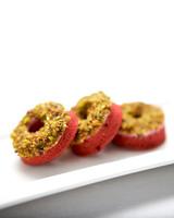 winter dessert mini red velvet donut