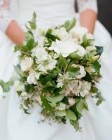 Simple White Wedding Bouquet