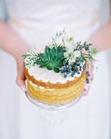 decor alternatives mini cake centerpiece with greenery