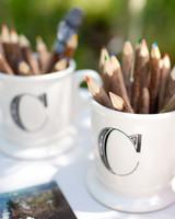 pencil wedding favors