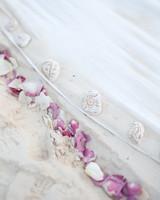 rock and petal wedding aisle