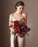 Wine and Greige Is a Color Combination That Can Make Wedding-Day Magic