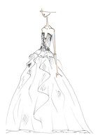 Chrissy Teigen's Three Vera Wang Gowns: From Sketch To Wedding Day!