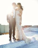 An Industrial, Flower-Free Brooklyn Wedding