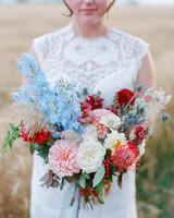 wedding bouquet rustic farm