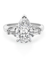 Harry Winston Pear-Cut Engagement Ring