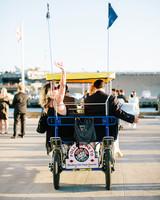 julie anthony real wedding cart