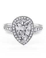 Kirk Kara Pear-Cut Engagement Ring