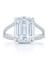 Kwiat Emerald-Cut Engagement Ring