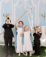 wedding kids playing