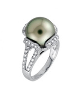 Yael Designs Pearl Engagement Ring