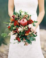 pomegranate wedding bouquet