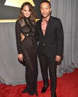 John Legend and Chrissy Teigen at 2017 Grammy Awards