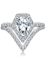 Karl Lagerfeld Pear-Cut Engagement Ring