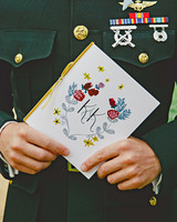 Monogrammed Wedding Program