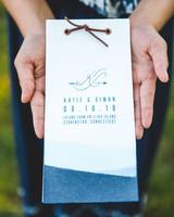 katie simon wedding program
