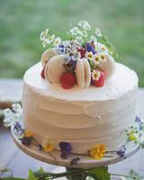 Strawberry and Maracon Wedding Cake