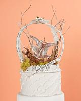 doves and ferns keepsake box cake topper