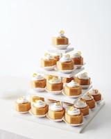 Petit Four Wedding Cakes with Kumquat