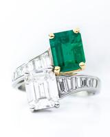 Oscar Heyman Emerald-Cut Engagement Ring