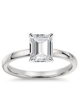 Blue Nile Emerald-Cut Engagement Ring