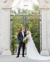 brette patrick wedding couple gate