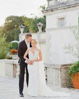 brette patrick wedding couple kiss