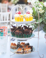 Three Tiered Cupcake Stand for a Bridal Shower Tea