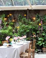 Outdoor Garden Venue for a Bridal Shower