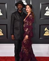 Gary Clark Jr. and Nicole Trunfio at 2017 Grammy Awards